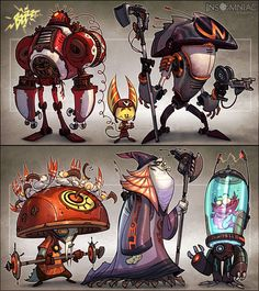 Ratchet and Clank by CreatureBox , via Behance