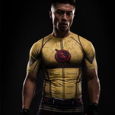 Reverse Flash Short Sleeve Compression Shirt