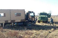 Бронеавтомобили КрАЗ сделали соперников по грязи