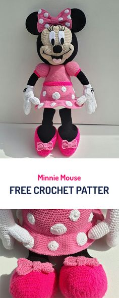 Minnie Mouse Free Crochet Pattern #crochet #yarn #toy #style #homedecor