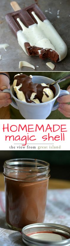 How to Make Homemade Magic Shell ~ this easy sauce will transform any ice cream in your freezer into the most magical dessert ever!