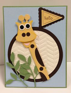 Giraffe Punch Art Stampin' Up! Card kit (5 cards)
