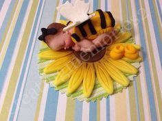 FONDANT BEE BABY  fondant bee baby laying on yellow by anafeke2