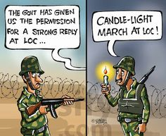 A very funny joke between Indian and Pakistan Army.