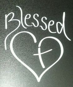 Blessed Heart with Cross Christian Vinyl Decal for car auto window mirror I like the heart with the cross as a tattoo idea. Trendy Tattoos, Love Tattoos, I Tattoo, Small Tattoos, Cross Tattoos, Girly Tattoos, Tattoo Quotes, Christian Tattoos, Chalkboard Art