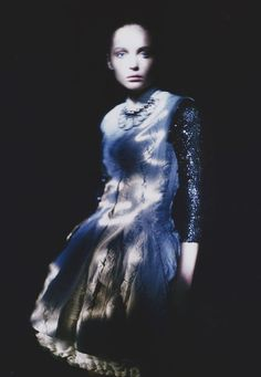 """""""Waiting in the Shadow"""" Snejana Onopka by Paolo Roversi for Vogue Nippon, June…"""