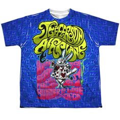 """Checkout our #LicensedGear products FREE SHIPPING + 10% OFF Coupon Code """"Official"""" Jefferson Airplane/white Rabbit-s/s Youth Poly T- Shirt - Jefferson Airplane/white Rabbit-s/s Youth Poly T- Shirt - Price: $24.99. Buy now at https://officiallylicensedgear.com/jefferson-airplane-white-rabbit-s-youth-poly-shirt-licensed"""