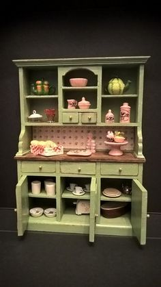 Hey, I found this really awesome Etsy listing at https://www.etsy.com/listing/278130782/miniature-dollhouse-decorated-sideboard