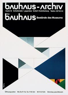 Walter Allner, Bauhaus Archiv Berlin, poster, 1973