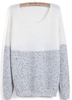 To find out about the White Contrast Grey Long Sleeve Mohair Sweater at SHEIN, part of our latest Sweaters ready to shop online today!