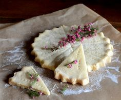 "Scottish Shortbread (Sablés Ecossais) (recipe) - ""You can't go wrong with having sablés in your pantry/cookie tin. These round Scottish shortbread bring back happy memories, especially baked in these rounds and broken into triangles. Scottish Recipes, Irish Recipes, Shortbread Recipes, Shortbread Cookies, Cupcakes, Afternoon Tea, Just Desserts, Sweet Tooth, Sweet Treats"