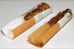 """A smoker takes one last drag of a cigarette, then flicks the butt to the ground and sends it backward with the scrape of a boot. """"People just flick them Drink Containers, Stop Smoke, Light Works, Chewing Gum, Plastic Waste, Rolling Pin, Biodegradable Products, How To Find Out, Rolls"""
