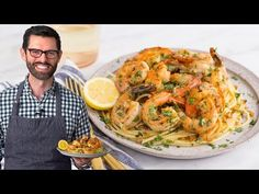 This easy and ultra-satisfying shrimp scampi recipe comes together in twenty minutes and is totally delicious! Packed with lemony, garlic goodness, buttery p. Shrimp Dishes, Shrimp Recipes, Pasta Recipes, Dinner Recipes, Cooking Recipes, Cooking Videos, Rice Recipes, Dinner Ideas, Healthy Meal Prep