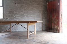 Tucket Table by Michael Robbins Dining Bench, Dining Room, Dining Tables, Indoor, House, Furniture, Home Decor, Hudson Valley, Chill