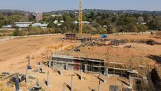 A new education centre building being constructed and developed in the Menlyn area Education Center, Pretoria, High Quality Images, Stock Footage, South Africa, Centre, Construction, Seasons, Building