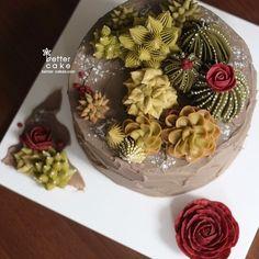 Buttercream succulent cake