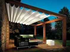 Ideas about backyard shade on diy pergola, shade cloth patio cover ideas Pergola Canopy, Pergola With Roof, Canopy Outdoor, Covered Pergola, Backyard Pergola, Pergola Shade, Pergola Plans, Outdoor Rooms, Outdoor Living
