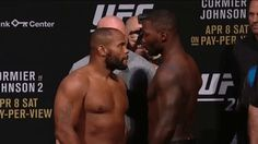 Trending GIF ufc mma face off faceoff staredown stare down weigh in daniel cormier ufc 210 weigh ins anthony johnson cormier cormier vs johnson 2 anthony rumble johnson Anthony Johnson, Daniel Cormier, Face Off, Funny Short Videos, Ufc, New Trends, Funny Gifs, Awesome Art, Short Funny Videos