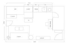 Design Project: A Relaxing Studio Unit in Quezon City Design Projects, Projects To Try, Quezon City, House Design, Studio Design, Tiny Living, Floor Plans, Flooring, How To Plan