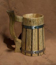 Wooden Beer mug 07 l 23oz Groomsmen gift Groom gifts