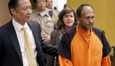 In this July 7, 2015 file photo, illegal immigrant Juan Francisco Lopez-Sanchez, right, is lead into the courtroom by San Francisco Public Defender Jeff Adachi, left, and Assistant District Attorney Diana Garciaor, center, for his arraignment at the Hall of Justice in San Francisco. He was the suspect at the center of a national immigration debate over the murder of Kate Steinle on San Francisco's Pier 14, on July 1. (Michael Macor/San Francisco Chronicle via AP, Pool, File)