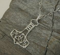 Handmade Mjolnir Pendant Wire Wrapped in by MystikCritterZ on Etsy, $34.00
