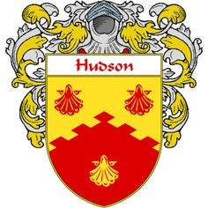 Hudson Coat of Arms   namegameshop.com has a wide variety of products with your surname with your coat of arms/family crest, flags and national symbols from England, Ireland, Scotland and Wale