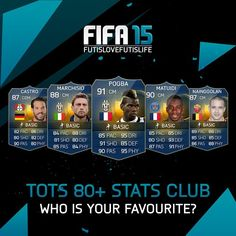 """All the TOTS who have 80+ on every single stat! Who is your personal favourite? Let me know! Make sure to subscribe to my new YT channel, FILJFIFA! Link is in the description... #filjfifa #futislovefutislife #pogboom #matuidi #marchisio #nainggolan #castro FIFA15 COINS!!!http://www.mmoxe.com/Affi-mmoxe-39263.html Use """"flycode"""" for 8% price off"""