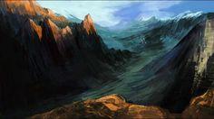 How To  Mountain Landscape speed painting in Photoshop tutorial by Chliszcz