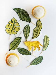 Printable Jungle Cupcake Toppers