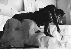 Tony Cassanelli at work on his sculpture in marble