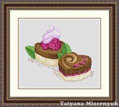 Cross stitch pattern Cake hearts от TatyanamStitch на Etsy