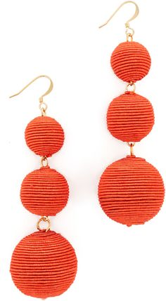 Kenneth Jay Lane Carnival Triple Drop Earrings/red In Orange Pantone Orange, Pantone 2017 Colour, Kenneth Jay Lane, Rebecca Minkoff, Madewell, Women's Earrings, Crochet Earrings, Kate Spade, Orange Fashion