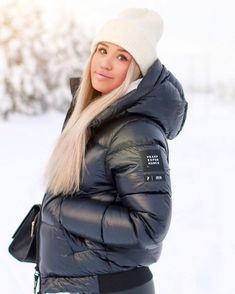 Moncler, Nylons, Winter Suit, Puffy Jacket, Cold Weather Outfits, Peak Performance, Down Coat, Outerwear Women, Jackets For Women