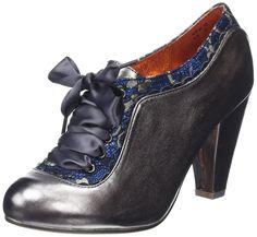 Poetic Licence Backlash Grey Blue Leather Womens Heels Shoes #CourtShoe #BestPrice: $119.99 Grab NOW! @bestbuy9432