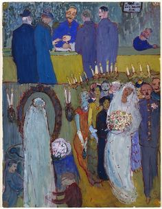 The wedding of the artist's parents by Charlotte Salomon