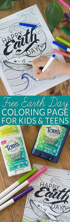 Earth Day Activity For Kids Free Printable Coloring Page