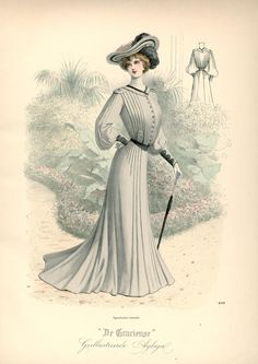 A Walking Dress illustrated in De Gracieuse, 1902