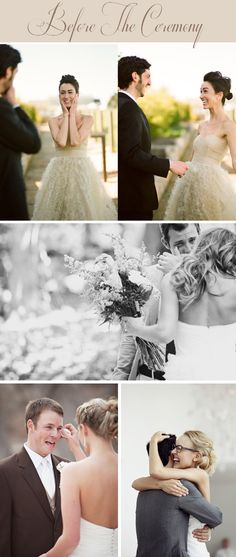 First Look Moments to Melt Your Heart - My Wedding Reception Ideas | Blog