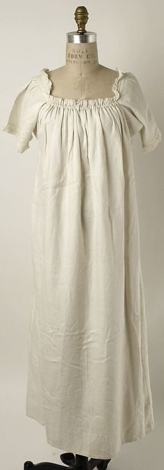 Chemise 1810, linen. Metropolitan Museum of Art