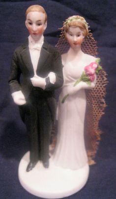 Vintage Bride Groom Wedding Cake Topper | eBay