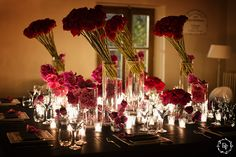 Red color dinner