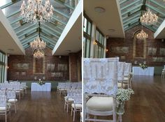 Ceremony Room at Offley Place Hotel in Great Offley. Styling by Wedding Creations UK