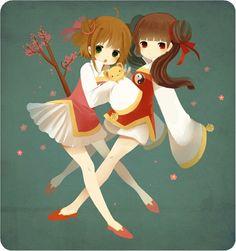 card captor sakura y pororo el pequeño pingüino de Sakura Kinomoto