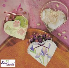 Recycled Greeting Card Heart Basket by EcoHeidi Borchers
