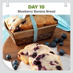 25 Days of Christmas Cheer • Day 10 • Blueberry Banana Bread Recipe is shared by Sandy Flick of Toledo, Ohio