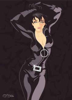 Catwoman, Harley Quinn & Batgirl by Dennis Salvatier Batgirl, Catwoman Comic, Batman And Catwoman, Batwoman, Batman Art, Joker, Harley Quinn, Gotham City, Cyberpunk