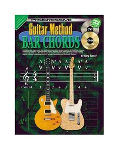 Progressive Guitar Method - Bar Chords: For Beginner To Advanced Play Guitar Chords, Learn To Play Guitar, Acoustic Guitar, Types Of Guitar, Guitar Tutorial, Online Music Stores, Learning To Be, Guitar Lessons, Playing Guitar