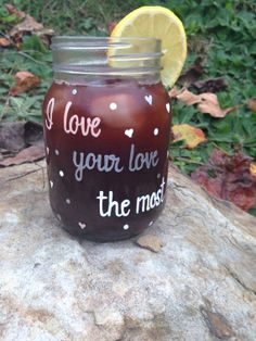 "Eric Church, ""I Love Your Love the Most"" Hand Painted Jar Eric Church Quotes, Love You The Most, My Love, Painted Jars, Hand Painted, South Country, Pink Poodle, Decorated Jars, Life Thoughts"