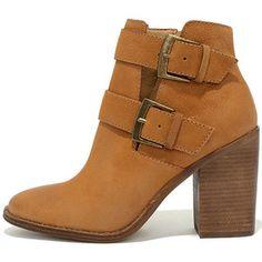 Steve Madden Trevur Cognac Leather High Heel Booties